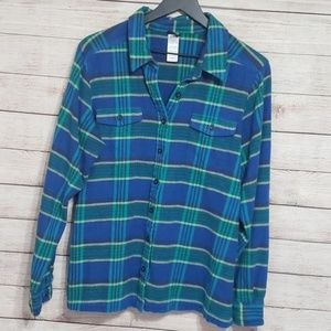 Patagonia   Fjord blue and green flannel